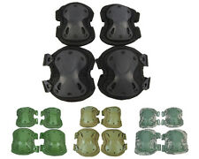 Tactical X Shape Adjustable Knee&Elbow Pad Airsoft Outdoor Protective Gear Set