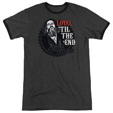 Sons Of Anarchy Loyal Mens Adult Heather Ringer Shirt Charcoal