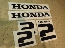Honda Vintage 2 HP Outboard Motor Decals Die-Cut FREE SHIP + Free Fish Decal!
