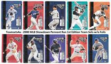 2000 MLB Showdown Pennant Edition 1st Ed (Base No Foil) Set ** Pick your Team **