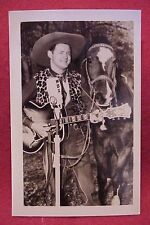 Vintage 1940s Country Western Music Real Photo Post Card WBZ Jack Dalton Guitar