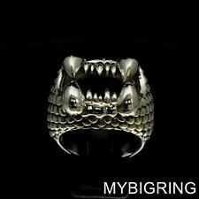 VICIOUS STERLING SILVER MENS SANDWORM RING ARRAKIS DUNE FREMEN ANY SIZE