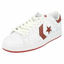 Womens Converse Trainers Label Pro Lthr Red OX Wht