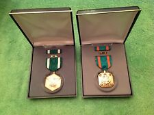 Lot 2 US Military Medals Navy Marine Corps Commendation & Achievement New Nib