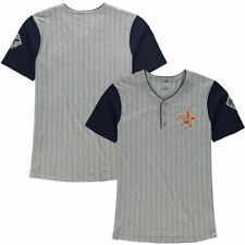 Majestic Houston Astros Youth Gray Life or Death Henley T-Shirt