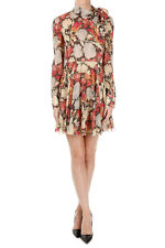 RED VALENTINO New Woman Floral Print Silk Blend dress Long Sleeve NWT