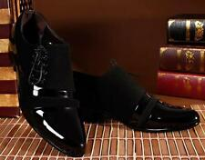New Men Patent Leather Oxford black lace up Dress wedding Formal Stylish Shoes