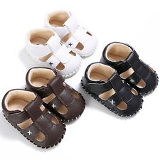 Fashion Baby Infant Kids Girl boys Soft Sole Crib Toddler Leather Sandals Shoes