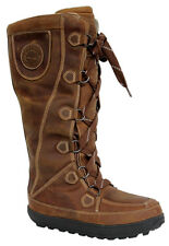Timberland Mukluk 16 Inch W Place Up Leather Brown Boots Womens 3513R OpD1