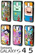 Adventure Time Cartoon Game Cute Gift Samsung Galaxy S4 S5 Plastic Phone Case