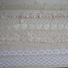 5 Yard cotton crochet delicate lace trim Wewing Edging 10mm 19mm 25mm 32mm 56mm