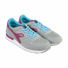 Diadora Camaro Mens Gray Suede Athletic Lace Up Running Shoes