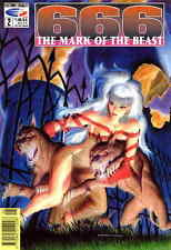 666: The Mark of the Beast #2 VF/NM Fleetway Quality - save on shipping - detail