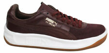 Puma GV Special Exotic Burgundy Leather Mens Tennis Shoes Trainers 357911 04 D46