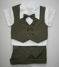 BABY BOY OUTFIT Dark Green Formal Special Occasion Suit Wedding Clothing Set