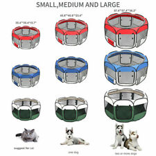 """45""""57"""" Dog Kennel Pet Fence Puppy Soft Oxford Playpen Exercise Pen Folding Crate"""