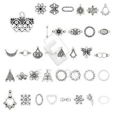 10-300pcs Lots Tibetan Silver Pendant Charm Links Connector Jewelry Findings YB
