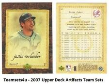 2007 Upper Deck Artifacts Baseball Set ** Pick Your Team **