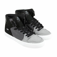 Supra Vaider Mens Gray Textile High Top Lace Up Sneakers Shoes