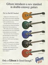1998 Gibson Les Paul DC Standard Guitar (red hot tamale black pepper) Print Ad