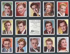 """JIBCO TEA 1956 """"SCREEN STARS"""" 2ND EDITION - MOVIE TRADE CARDS - PICK YOUR CARD"""