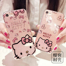 Cute Cartoon Hello Kitty Bling Glitter Soft Case Cover for iPhone 7 7 Plus 6 6S