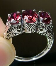 *Ruby* Sterling Silver Filigree Edwardian Reproduction Ring Size {Made To Order}