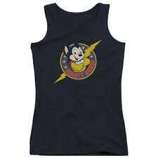 Mighty Mouse Mighty Hero Juniors Tank Top Shirt BLACK