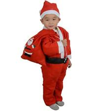 Toddler Boy Christmas Santa Claus Costume Dress with Hat Outfit Set Xmas Gifts