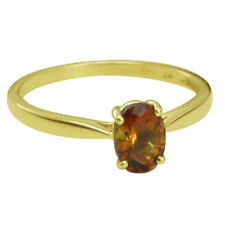 Solid Gold Madeira,Citrine Solitaire Engagement 0.68 ctw Ring GSR392