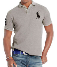 Polo Ralph Lauren Custom Fit Big Pony Short Sleeve Polo Shirt, GREY, ALL SIZES