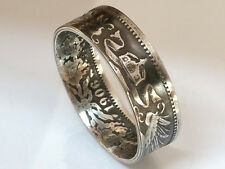 Coin Ring 1 Mark German Empire 1891 - 1916 German Reich Eagle Silver 900er