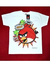 Boys  ANGRY BIRDS - WHITE Soft Touch T Shirt Top Age   5/6 7/8 9/10 yrs