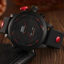 Mens 3D OHSEN Digital LED Date Day Stopwatch Army Sport Alarm Quartz Wrist Watch