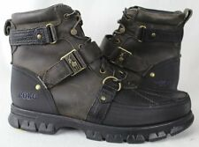 POLO Ralph Lauren Damien Leather Boots Brown Black NWT