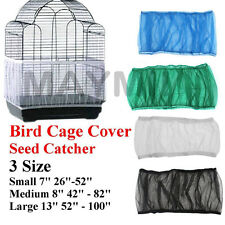 4Colors 3Sizes Seed Catcher Guard Mesh Bird Cage Cover Skirt Traps Debris Y