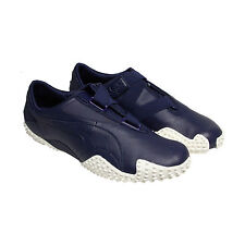 Puma Mostro Og Ii Mens Blue Leather Strap Slip On Sneakers Shoes