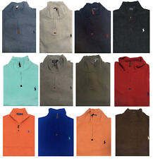 NEW Polo Ralph Lauren Men's Half Zip French Rib Cotton Sweater All Sizes