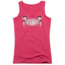 Betty Boop Classic Betty Boop Juniors Tank Top Shirt HOT PINK