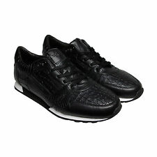 Creative Recreation Casso Mens Black Leather Lace Up Sneakers Shoes