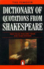 The Penguin Dictionary of Quotations from Shakespeare (Penguin reference),