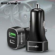 [Qualcomm 2.0] BlitzWolf BW-C7 Quick Charge USB + Type-C Car Dual Charger 33W 3A