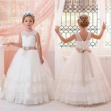 Flower Girl Dress Pageant Wedding Easter Graduation Communion Bridesmaid Dress