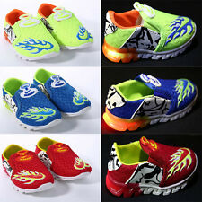 Infant Toddlers Boys Light Up LED Trainers Boys Flashing Casual Sports Shoes