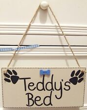 HANDMADE PERSONALISED PET NAME DOG HOUSE TOY BOX PLAQUE SIGN SHABBY CHIC GIFT