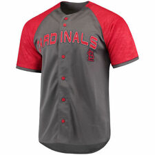 Stitches St. Louis Cardinals Charcoal/Red Glitch Jersey - MLB