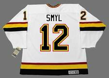 STAN SMYL Vancouver Canucks 1989 CCM Vintage Throwback Home NHL Hockey Jersey