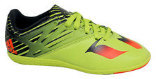 Adidas Messi 15.3 Junior Lace Up Green Football Trainers Boots S74692 D46