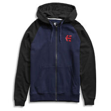 ETNIES 'E-CORP' Men's Raglan Zip Hood, Navy/Black/Red - skateboard bmx