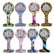New Fashion Patterned Nurses Brooch Tunic Fob Pocket Watch Stainless Dial Pretty